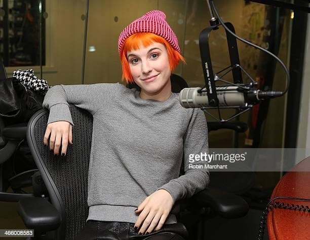 Hayley Williams of Paramore visits at SiriusXM Studios on January 30 2014 in New York City