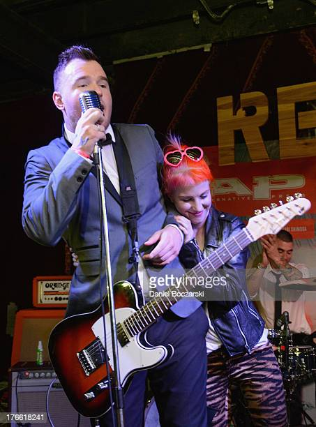 Hayley Williams performs with Chad Gilbert of What's Eating Gilbert on stage at Red 7 during Day 5 of SXSW 2013 Music Festival on March 16 2013 in...