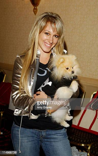 Haylie Duff and Bentley during The Jeep Yappy Hour and Febreze Pet Fashion Show sponsored by GW Little Inside at The Century Plaza Hotel in Los...