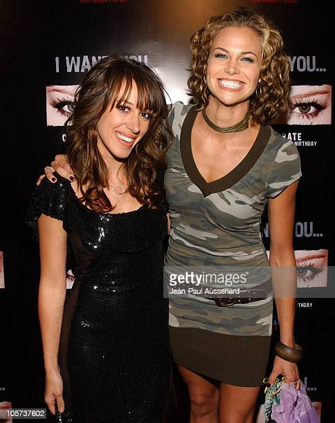 Haylie Duff and Brooke Burns during Hilary Duff's 18th Birthday Party at Mood in Hollywood, California, United States.