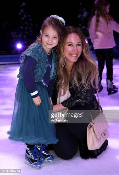 Haylie Duff and daughter Ryan attend Disney On Ice Presents Mickey's Search Party Holiday Celebrity Skating Event at Staples Center on December 13...
