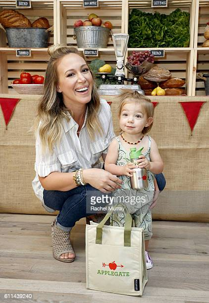 Haylie Duff and daughter Ryan Ava Rosenberg attend Haylie Duff Hosts Applegate's Sandwich Soiree at AU FUDGE on September 29, 2016 in West Hollywood,...