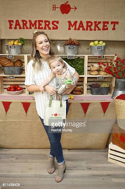 Haylie Duff and daughter Ryan Rosenberg attend Haylie Duff Hosts Applegate's Sandwich Soiree at AU FUDGE on September 29 2016 in West Hollywood...