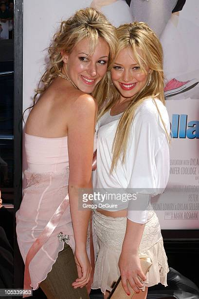 "Haylie Duff and Hilary Duff during ""A Cinderella Story"" World Premiere - Arrivals at Grauman's Chinese Theatre in Hollywood, California, United..."