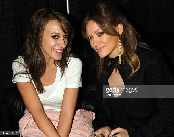 Haylie Duff and Hilary Duff during Nickelodeon's 19th Annual Kids' Choice Awards Backstage and Audience at Pauley Pavillion in Westwood California...