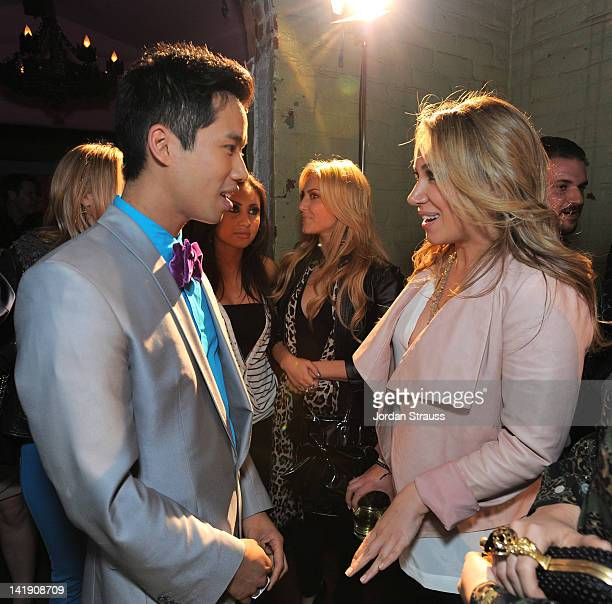 Haylie Duff and Jared Eng attend Just Jared's 30th at Pink Taco on March 23 2012 in Los Angeles California