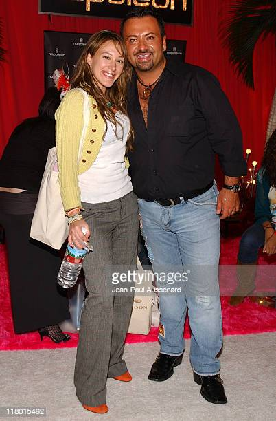 Haylie Duff and Napoleon Perdis during Silver Spoon PreGolden Globe Hollywood Buffet Day 1 at Private Residence in Los Angeles California United...