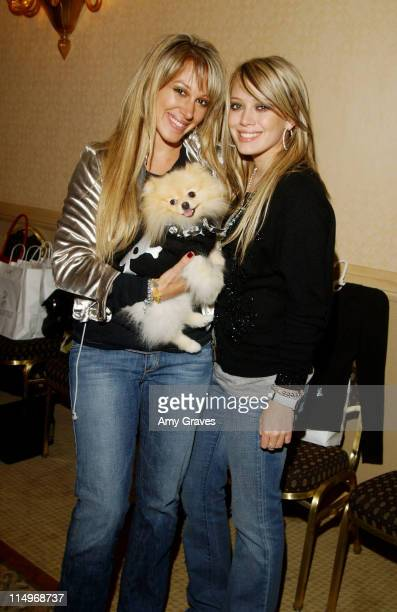 Haylie Duff, Bentley and Hilary Duff during The Jeep Yappy Hour and Febreze Pet Fashion Show sponsored by GW Little -Inside at The Century Plaza...