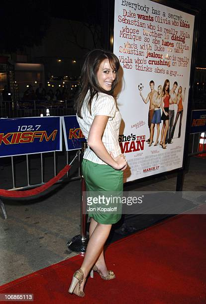 """Haylie Duff during DreamWorks' """"She's the Man"""" Los Angeles Premiere - Red Carpet at Mann's Village in Westwood, California, United States."""