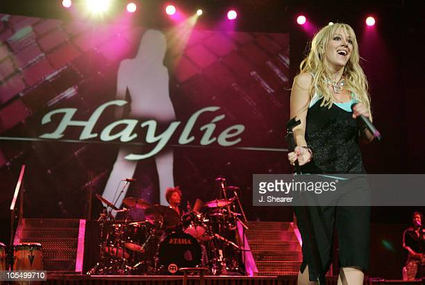 "Haylie Duff during Hilary Duff and Haylie Duff ""Most Wanted"" Tour - September 2, 2004 at The Arrowhead Pond in Anaheim, California, United States."
