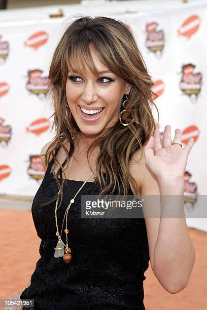Haylie Duff during Nickelodeon's 18th Annual Kids Choice Awards - Orange Carpet at Pauley Pavilion in Los Angeles, California, United States.