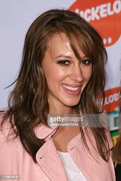 Haylie Duff during Nickelodeon's 19th Annual Kids' Choice Awards Arrivals at Pauley Pavillion in West wood California United States