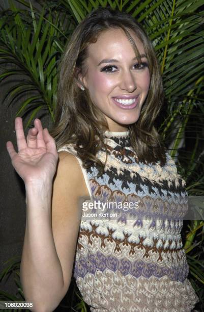 Haylie Duff during Usher Premieres on Broadway in Chicago After Party at Nikki Beach in New York City New York United States