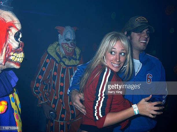 Haylie Duff Greg Carney at Knott's Scary Farm for the Halloween Haunt 31st year