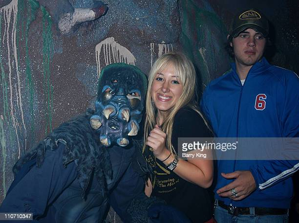 Haylie Duff Greg Carney in the Curse of the Spider maze at Knott's Scary Farm for the Halloween Haunt 31st year