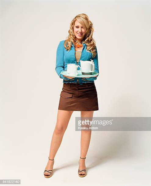 Haylie Duff Holding Coffee Service