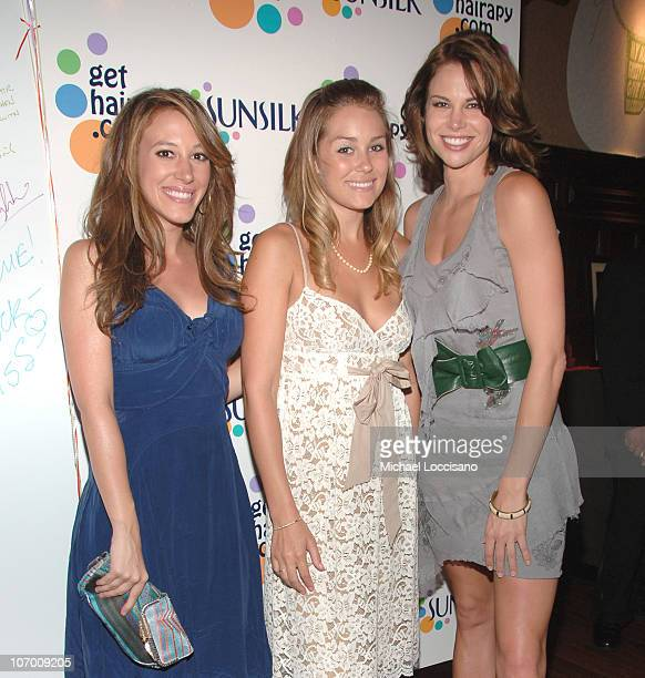 """Haylie Duff, Lauren Conrad and Brooke Burns during The Sunsilk Hairapy """"Coming Out"""" Launch Party at The Plumm in New York City, New York, United..."""