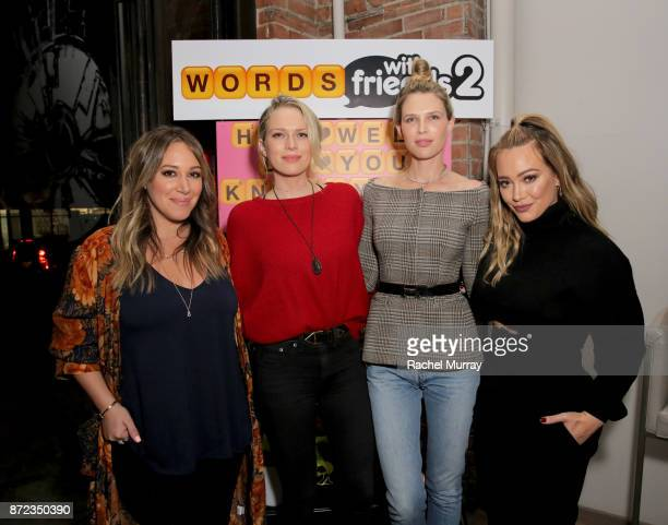 Haylie Duff Sara Foster Erin Foster and Hilary Duff attend the Launch of Words with Friends 2 hosted by Hilary and Haylie Duff at Norah Restaurant on...
