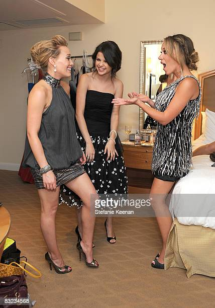Haylie Duff Selena Gomez and Hilary Duff attends the St Jude's 5th Annual Runway For Life Benefit at The Beverly Hilton Hotel on October 11 2008 in...
