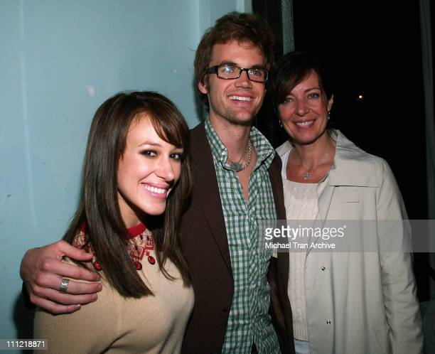 Haylie Duff Tyler Hilton and Allison Janney during Evian Detox Spa Launch Party February 27 2006 at Evian Detox Spa in Beverly Hills California...