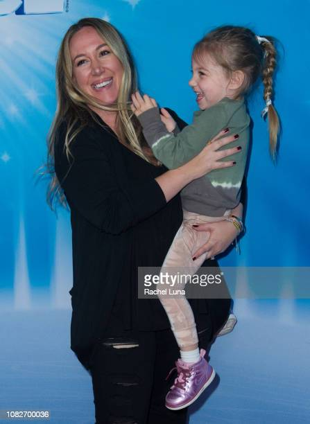 Haylie Duff with daughter Ryan attend Disney On Ice Presents 'Dare To Dream' at Staples Center on December 14 2018 in Los Angeles California