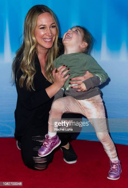 Haylie Duff with daughter Ryan attend Disney On Ice Presents 'Dare To Dream' at Staples Center on December 14, 2018 in Los Angeles, California.