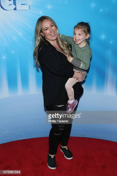 Haylie Duff with her daughter attend Disney On Ice Presents 'Dare To Dream' at Staples Center on December 14 2018 in Los Angeles California