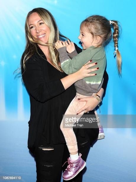Haylie Duff with her daughter attend Disney On Ice Presents 'Dare To Dream' held at Staples Center on December 14 2018 in Los Angeles California