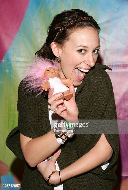 Haylie Duff with Trolls during The Original Lucky Trolls at Silver Spoons Hollywood Buffet - Day 2 in Los Angeles, California.