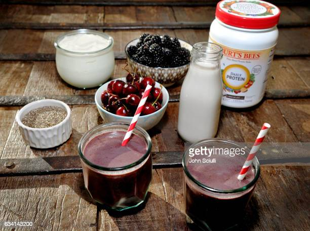 Haylie Duff's Chia Cherry Chocolate Smoothie Duff has created this recipe and more to help introduce Burt's Bees PlantBased Protein Shakes the beauty...