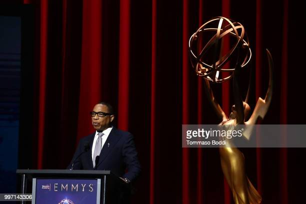 Hayma Washington attends the 70th Emmy Awards Nominations Announcement at Saban Media Center on July 12 2018 in North Hollywood California