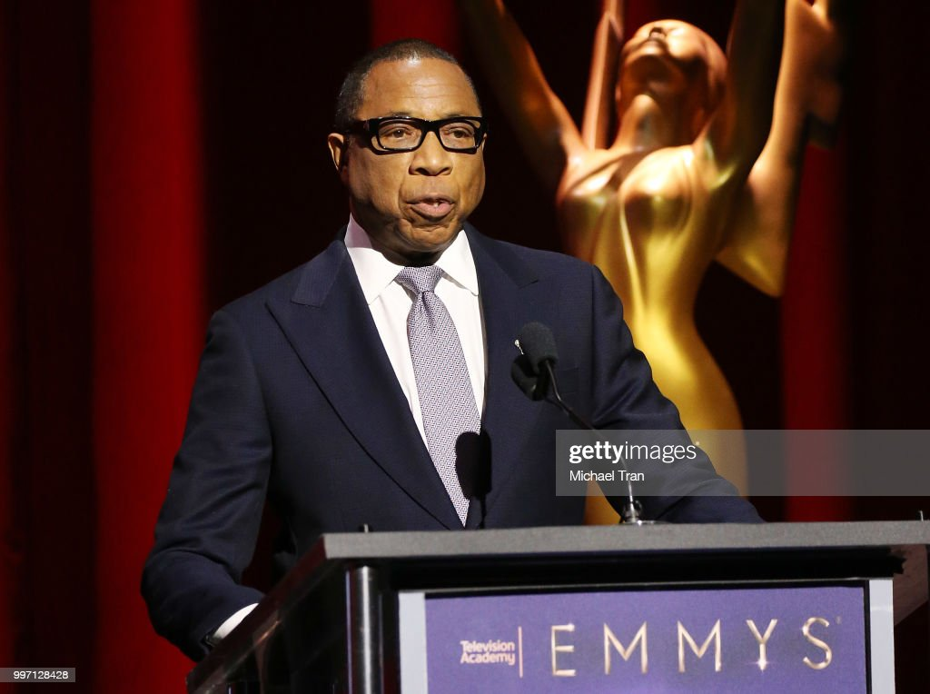 Hayma Washington speaks onstage during the 70th Emmy Awards nominations announcement held at Saban Media Center on July 12, 2018 in North Hollywood, California.