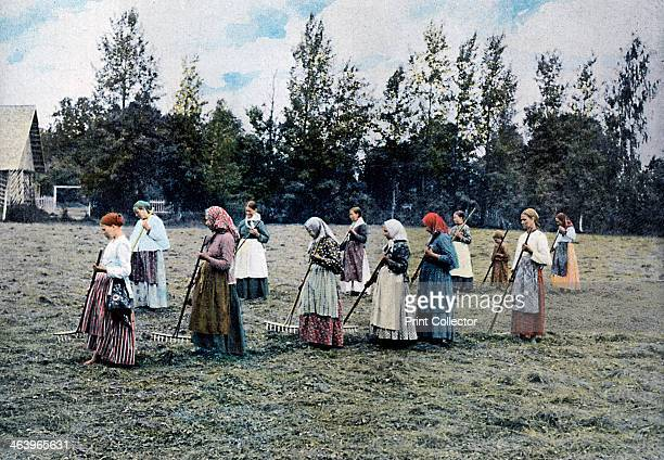 Haymaking around Moscow Russia c1890 Illustration from Russie Costumes et Coutumes by L Boulanger