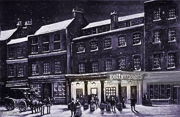 Haymarket theatre London in the snow London UK