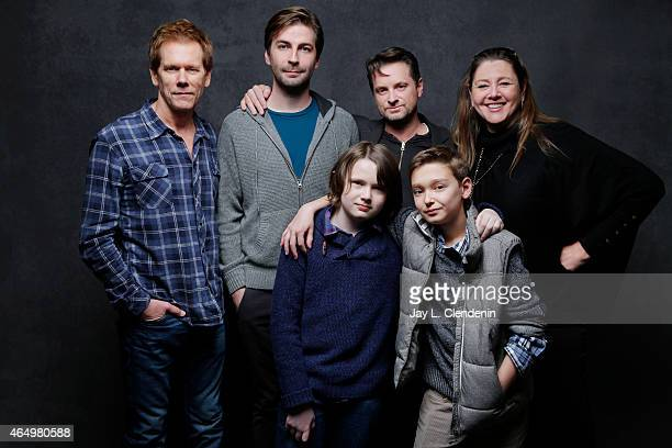 Hays Wellford, James Freedson-Jackson, Kevin Bacon, Jon Watts, Shea Whigham and Camryn Manheim from the film 'Cop Car' pose for a portrait for the...