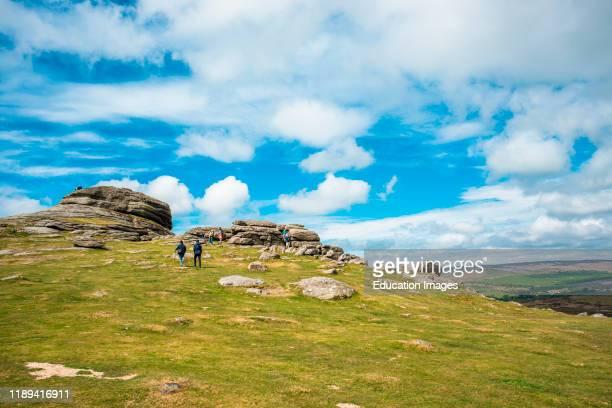 Haytor rock in Dartmoor National park, Devon, England, UK.