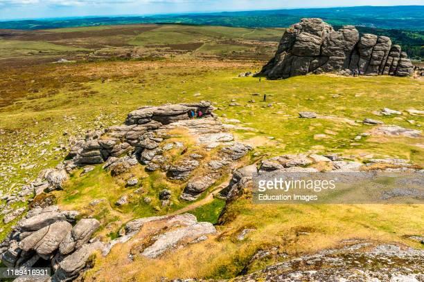Haytor rock in Dartmoor National park Devon England UK