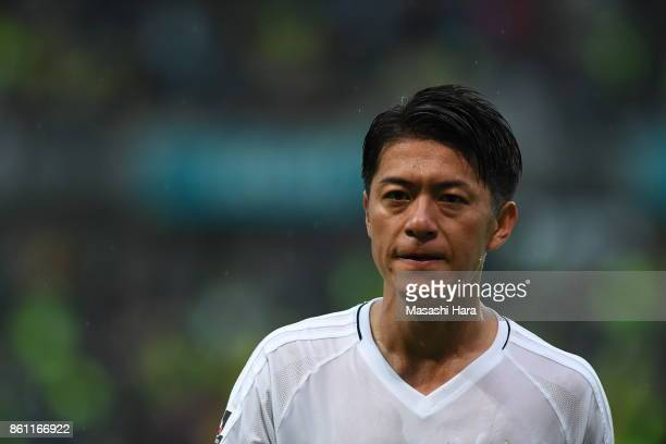 Hayuma Tanaka of Matsumoto Yamaga looks on during the JLeague J2 match between JEF United Chiba and Matsumoto Yamaga at Fukuda Denshi Arena on...
