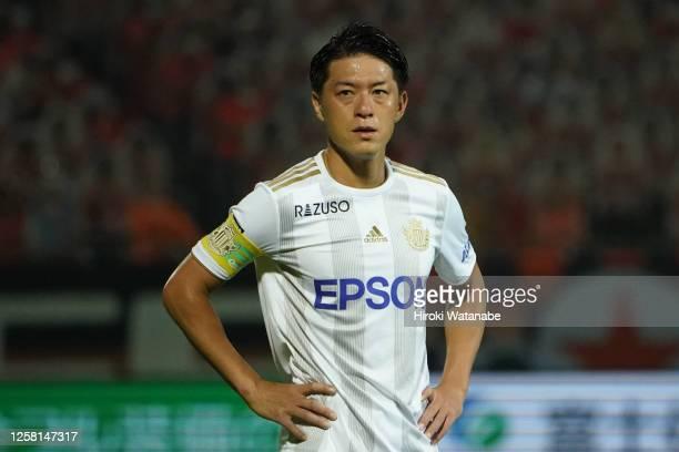 Hayuma Tanaka of Matsumoto Yamaga looks on during the J.League Meiji Yasuda J2 match between Omiya Ardija and Matsumoto Yamaga at Nack5 Stadium Omiya...