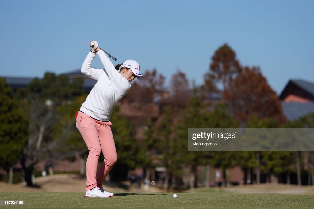 Hayuno Tateura of Japan shots during the first round of the LPGA Rookie Tournament at Great Island Club on December 7, 2017 in Chonan, Chiba, Japan.