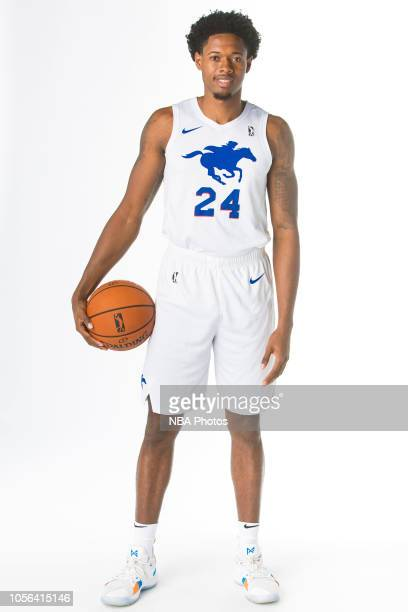 Haywood Highsmith Jr of the Delaware Blue Coats poses for a portrait during NBA GLeague media day on October 31 2018 at the Delaware Tech Collage in...