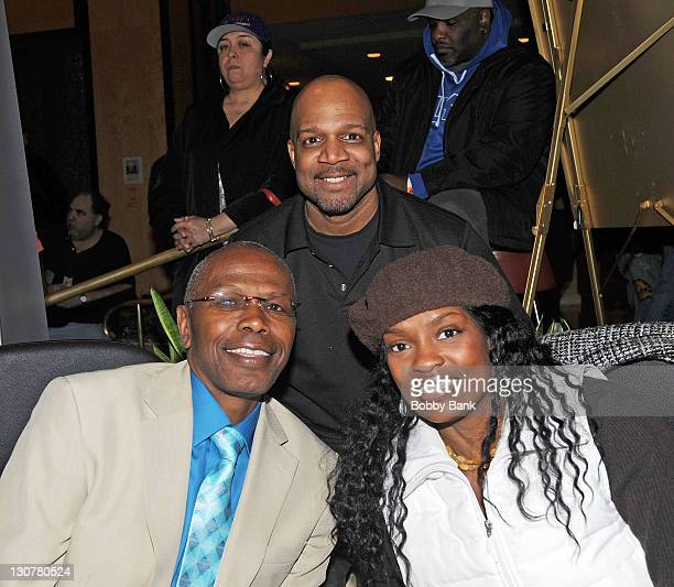 Haywood Nelson, Ernest Thomas and Danielle Spencer attend the 2011 Chiller Theatre Expo at the Hilton Parsippany on October 29, 2011 in Parsippany,...