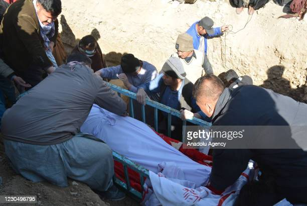 Hazara Coal Miners are being laid to rest in Quetta,the provincial capital of Southwestern Balochistan province, Pakistan on January 09, 2021. The...