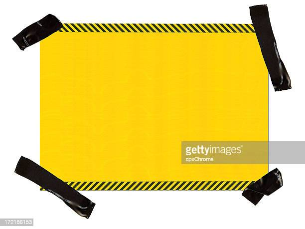 hazard paper interface 100% view - warning sign stock pictures, royalty-free photos & images
