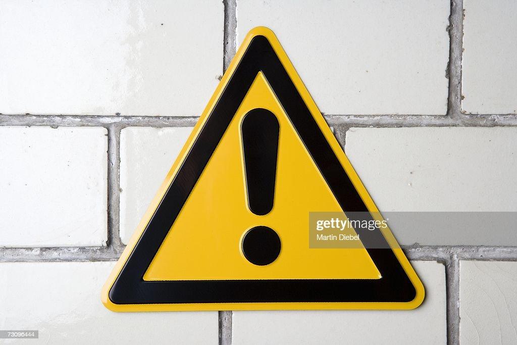 ?Hazard? warning sign : Stock Photo