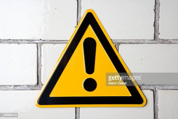 ?Hazard? warning sign