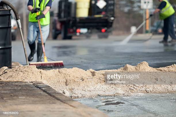 hazardous material accident scene cleanup - high pressure cleaning stock pictures, royalty-free photos & images