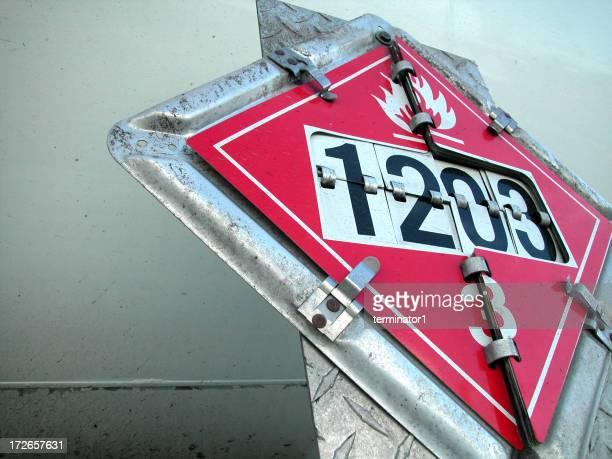 Hazardous Material truck sign