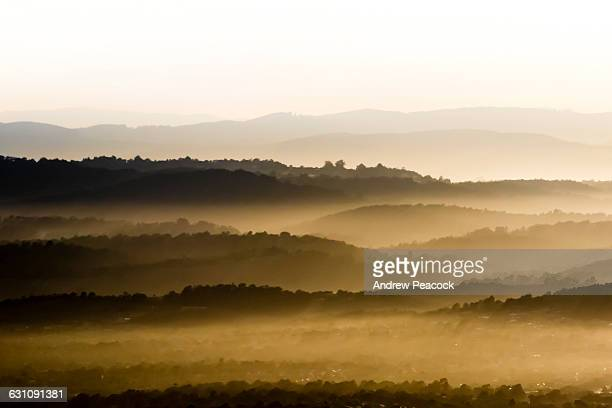 Haze above the Dandenong Ranges National Park.
