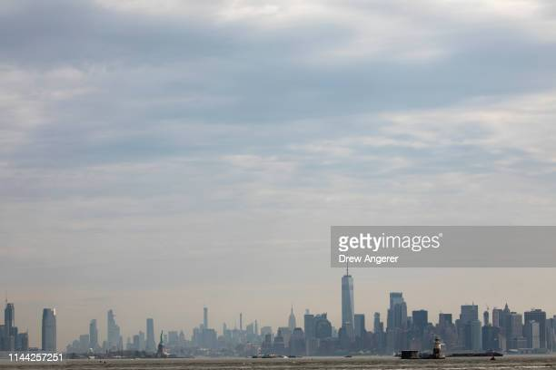 Haze covers lower Manhattan skyline seen from Staten Island on May 17 2019 in New York City According to an annual report issued by the American Lung...